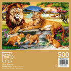 Lion Family 500 Piece Jigsaw Puzzle image number 3