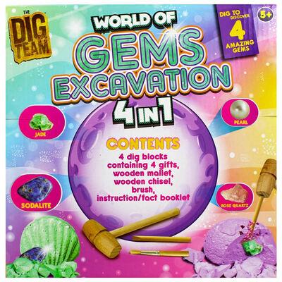 World of Gems 4-in-1 Excavation Kit image number 4