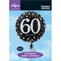 18 Inch Black Number 60 Helium Balloon