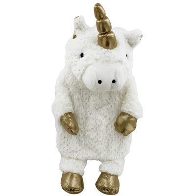 White Magical Unicorn Hot Water Bottle image number 2