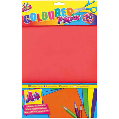 A4 Coloured Paper: 40 Sheets image number 1