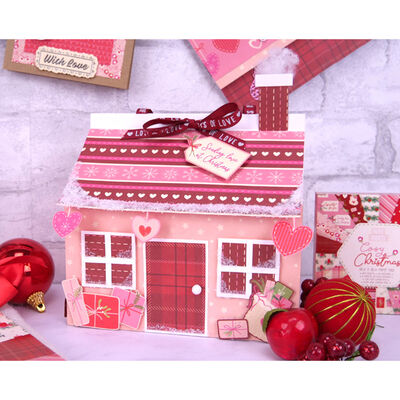Cosy Christmas Paper Pad - 10cm x 10cm image number 2