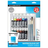 Daler Rowney Simply Watercolour 25 Piece Set