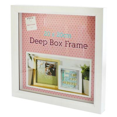 White Deep Box Frame - 20cm x 20cm image number 3