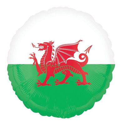18 Inch Welsh Flag Helium Balloon image number 1