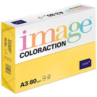 A3 Deep Yellow Sevilla Image Coloraction Copy Paper: 500 Sheets