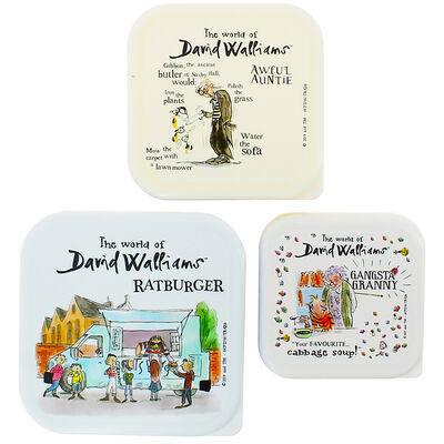 The World of David Walliams Stackable Storage Boxes: Set of 3 image number 3