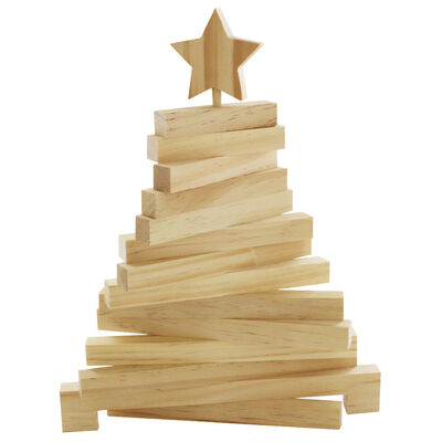 Wooden 3D Christmas Tree image number 1