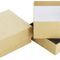 Square Craft Boxes - Set Of 2