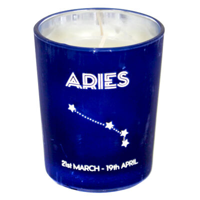 Zodiac Collection Aries Fresh Vanilla Candle image number 2