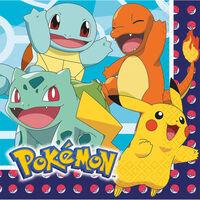 Pokemon Lunch Napkins: Pack of 16