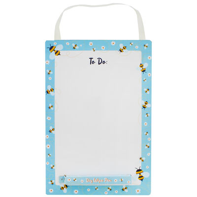 A4 Bee Dry Wipe To Do List Board with Pen image number 1