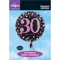 18 Inch Pink Number 30 Helium Balloon