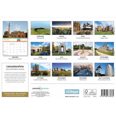 Leicestershire 2020 A4 Wall Calendar image number 3