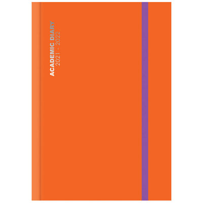 A4 Bright Orange 2021-2022 Day a Page Diary image number 1