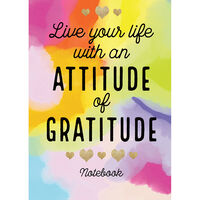 A5 Casebound Attitude of Gratitude Lined Notebook