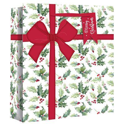 Wide Gusset Holly Parcel Gift Bag image number 1