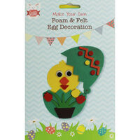 Make Your Own Foam and Felt Easter Egg Decorations - Assorted