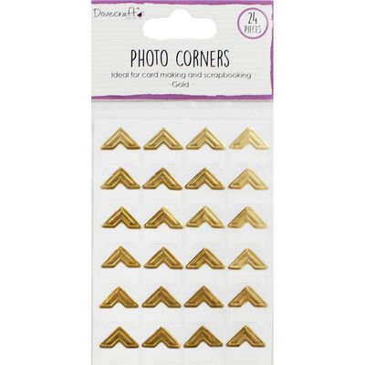 Dovecraft Essentials Photo Corners - Gold - 24 Pieces image number 1