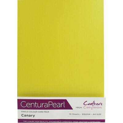 Centura Pearl A4 Canary Card - 10 Sheet Pack image number 1