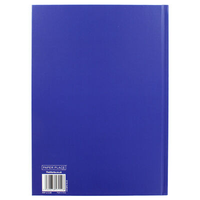 A4 Case Bound Plain Blue Lined Notebook image number 3
