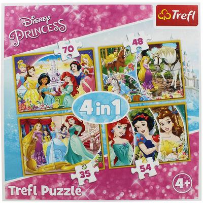 Disney Princess 4-in-1 Jigsaw Puzzle Set image number 2