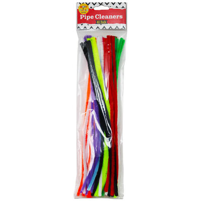 40 Assorted Long Pipe Cleaners image number 1