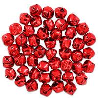 Red Metal Jingle Bells: Pack of 48