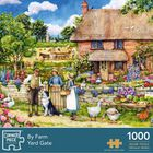 By Farm Yard Gate 1000 Piece Jigsaw Puzzle image number 1
