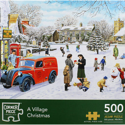 A Village Christmas 500 Piece Jigsaw Puzzle image number 2