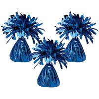 Blue Tinsel Balloon Weights: Pack of 3