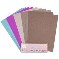 A5 Glitter Adhesive Sheets: Pack of 10