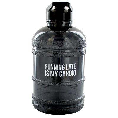 Black Running Late 1.8 Litre Water Bottle image number 1