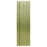 Gold Foil Paper Straws - 10 Pack