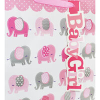 Pink Baby Girl Extra Large Gift Bag