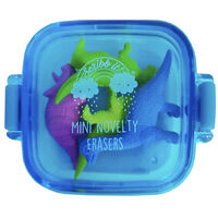 Mini Novelty Erasers Pack: Blue