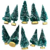Frosted Christmas Trees - 10 Pack
