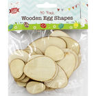 Wooden Egg Shapes - 30 Pack image number 1