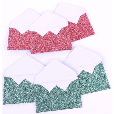 Green Red Mini Envelopes - 6 Pack image number 2