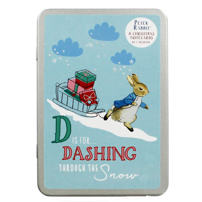 8 Christmas Cards in Tin - Peter Rabbit image number 1