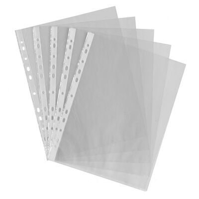 Heavy Duty A4 Punch Pockets - 30 Pack image number 1