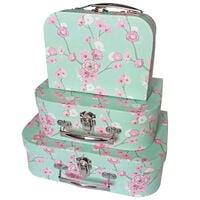 Oriental Storage Suitcases: Set of 3