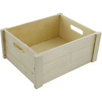 Wooden Crate Hamper