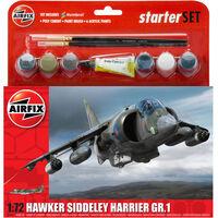 Airfix Hawker Siddeley Harrier Gr1 1:72 Scale Model Starter Set