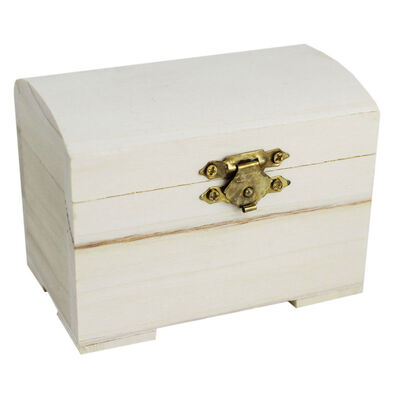 Mini Wooden Chest image number 1