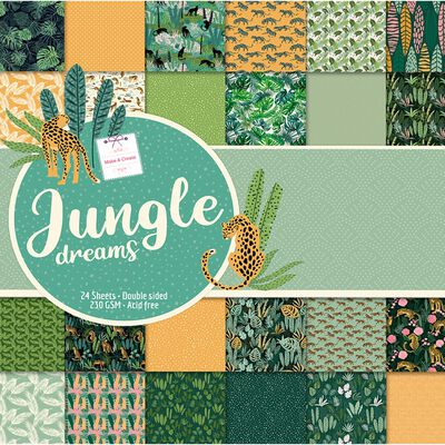 Jungle Dreams Design Pad: 12 x 12 Inches image number 1