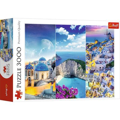 Greek Holidays 3000 Piece Jigsaw Puzzle image number 1