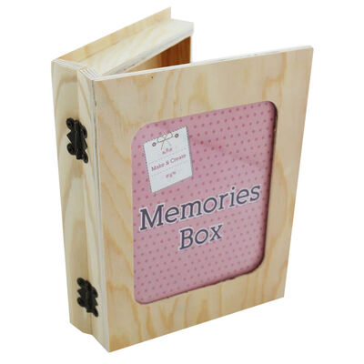Easter Create Your Own Wooden Butterfly Hearts Memory Box Bundle image number 2