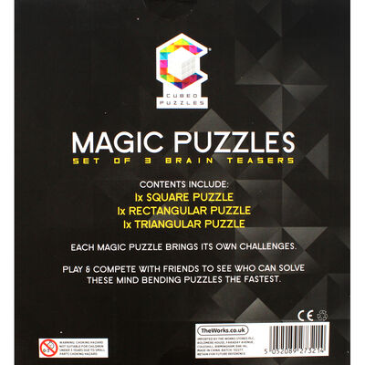 Magic Cubed Puzzles - 3 Brain Teasers image number 4