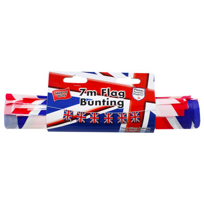 Union Jack 7m Plastic Bunting image number 1